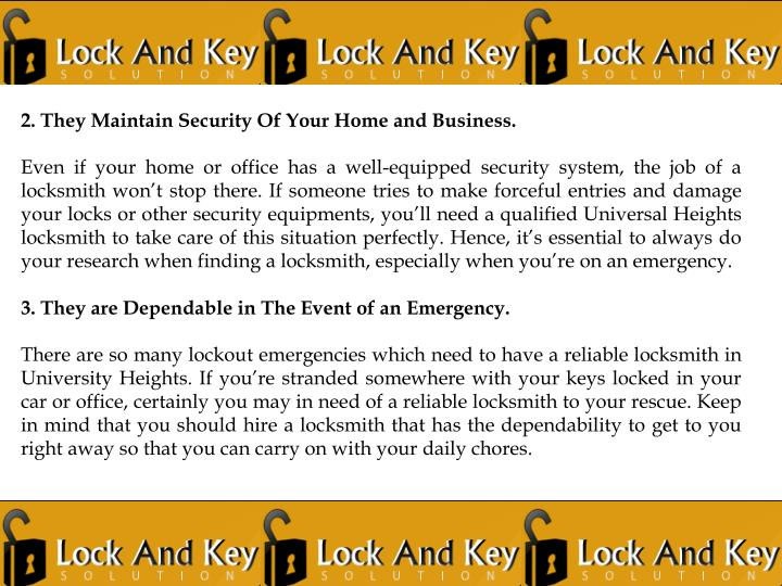 2. They Maintain Security Of Your Home and Business.