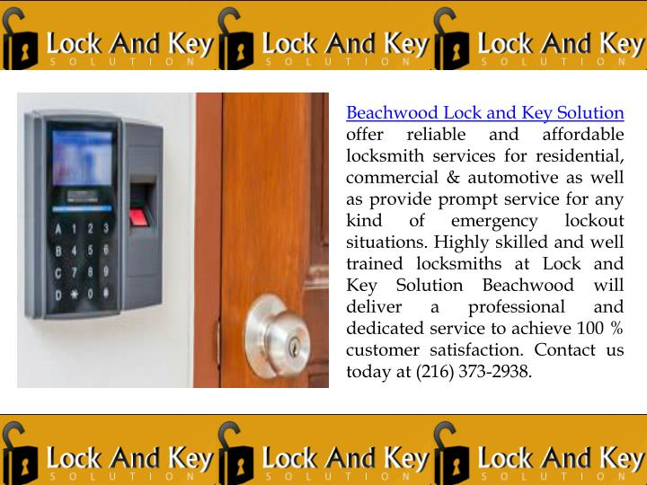 Beachwood Lock and Key Solution