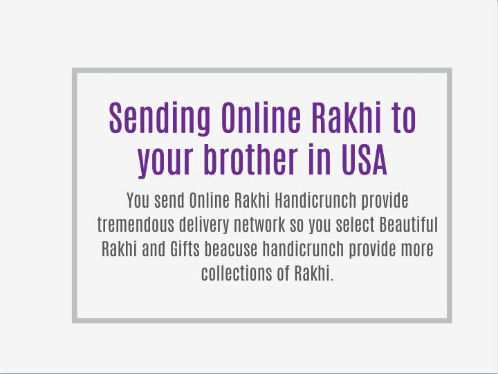 Sending Online Rakhi to