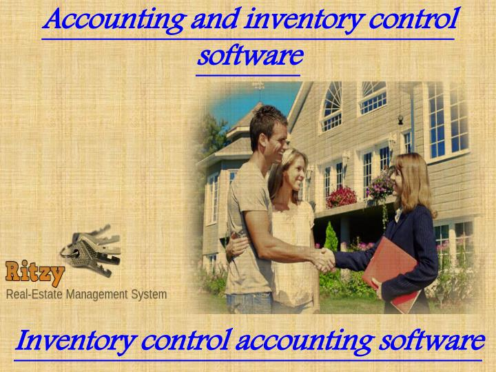 Accounting and inventory control software
