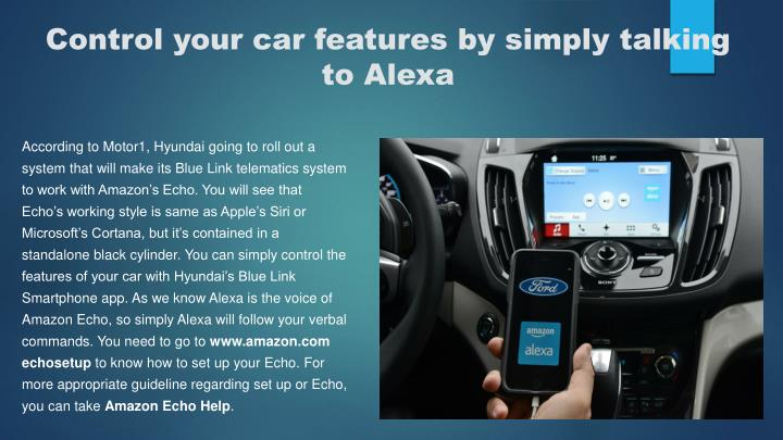 Control your car features by simply talking to Alexa