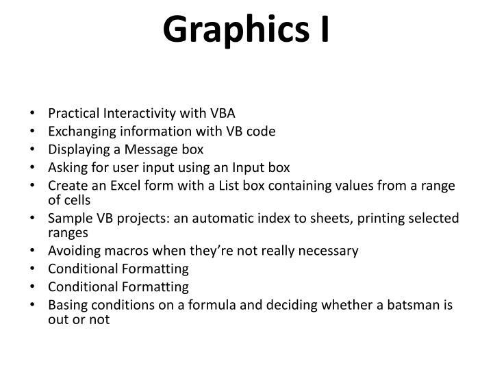 Graphics I