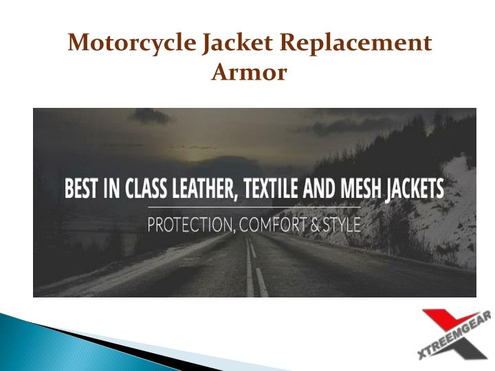 Motorcycle Jacket Replacement Armor