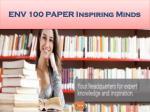 env 100 paper inspiring minds25
