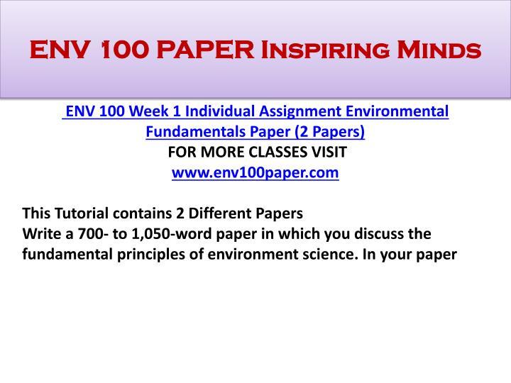 ENV 100 PAPER Inspiring Minds