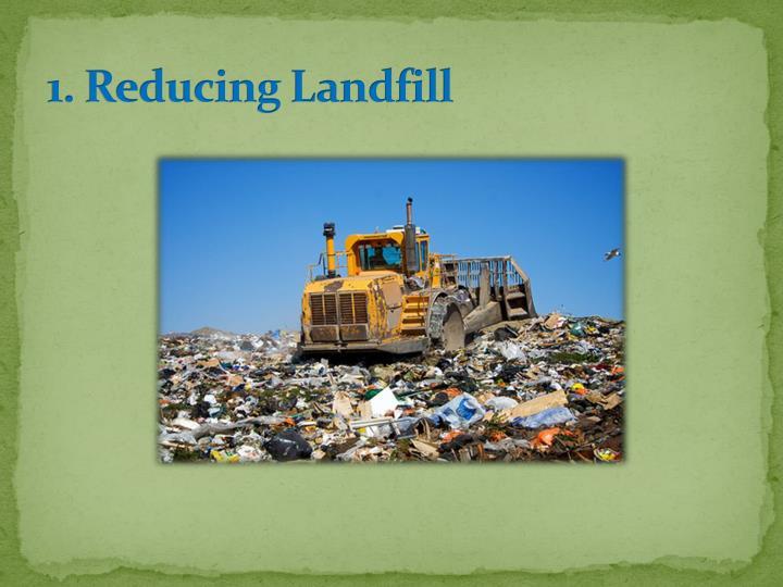 1. Reducing Landfill
