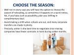 choose the season