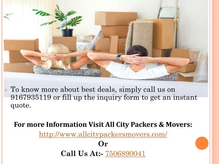 To know more about best deals, simply call us on 9167935119 or fill up the inquiry form to get an instant quote.