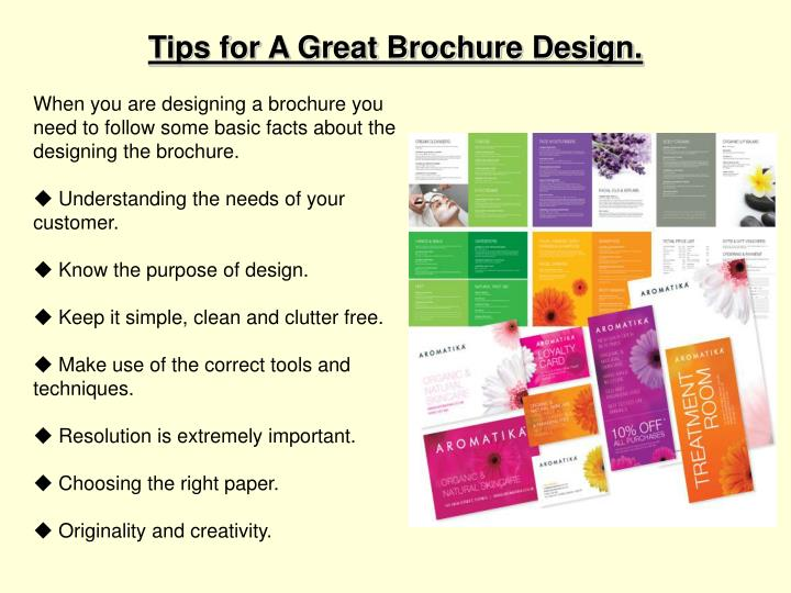 Tips for A Great Brochure Design.