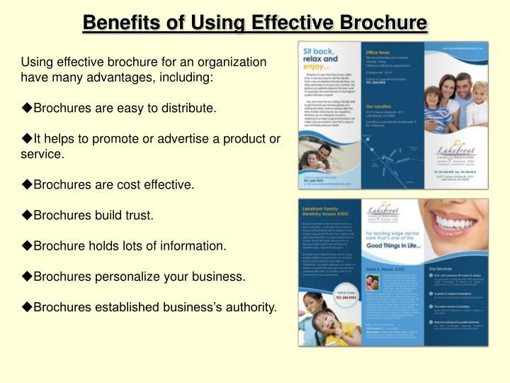 Benefits of Using Effective Brochure