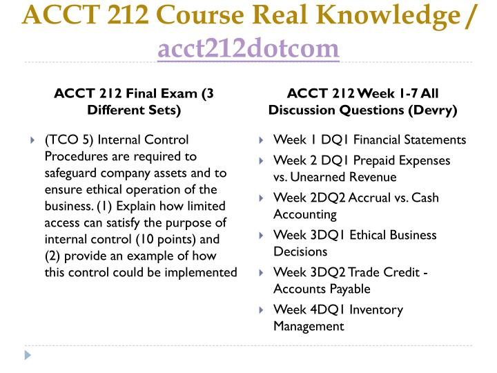 Acct 212 course real knowledge acct212dotcom2