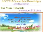 acct 212 course real knowledge acct212dotcom5