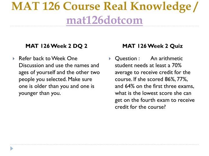 Mathematics in Our World, math homework help