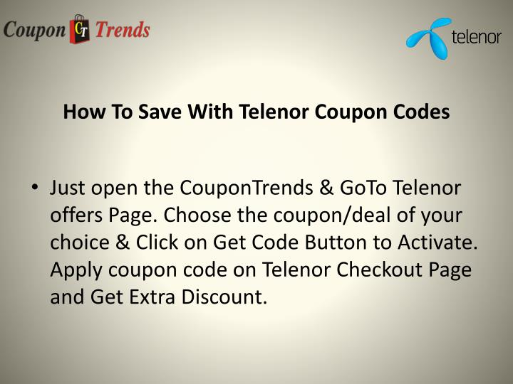 How to save with telenor coupon codes