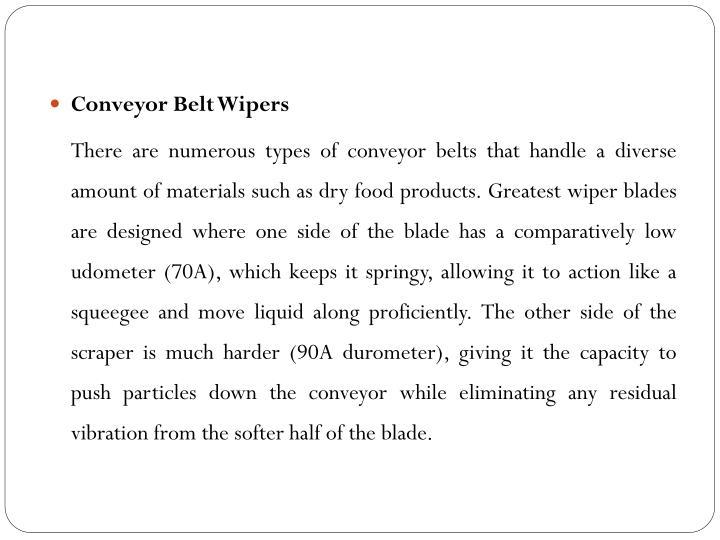 Conveyor Belt Wipers