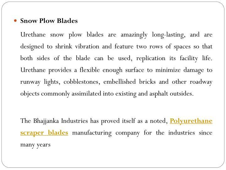 Snow Plow Blades