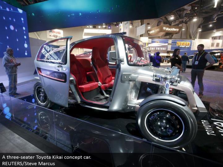A three-seater Toyota Kikai idea auto. REUTERS/Steve Marcus