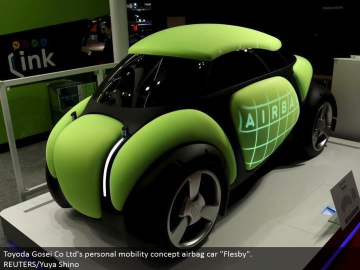 "Toyoda Gosei Co Ltd's own portability idea airbag auto ""Flesby"". REUTERS/Yuya Shino"