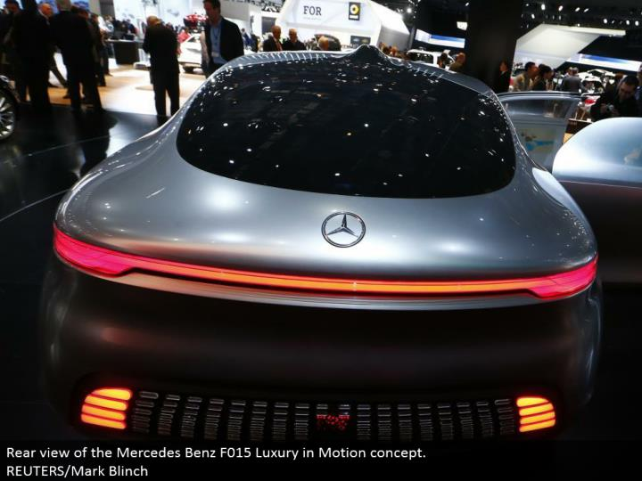 Rear perspective of the Mercedes Benz F015 Luxury in Motion idea. REUTERS/Mark Blinch