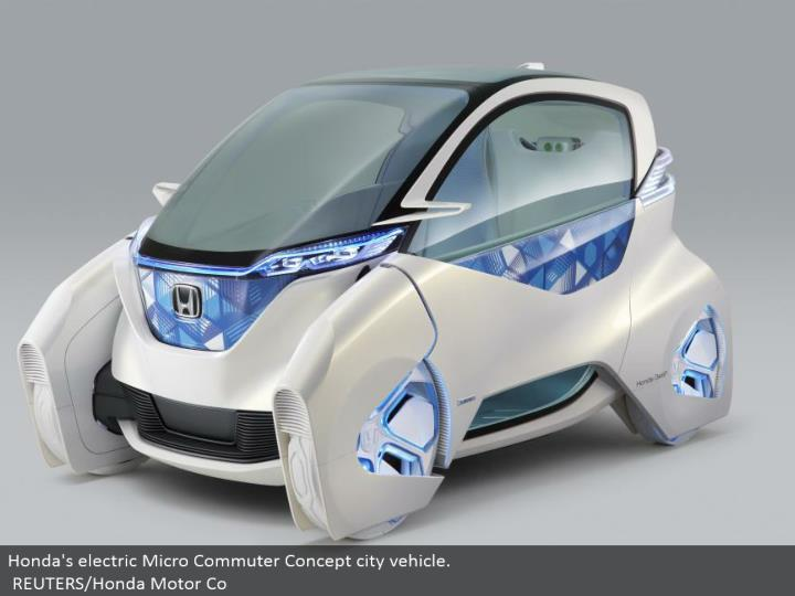 Honda's electric Micro Commuter Concept city vehicle. REUTERS/Honda Motor Co