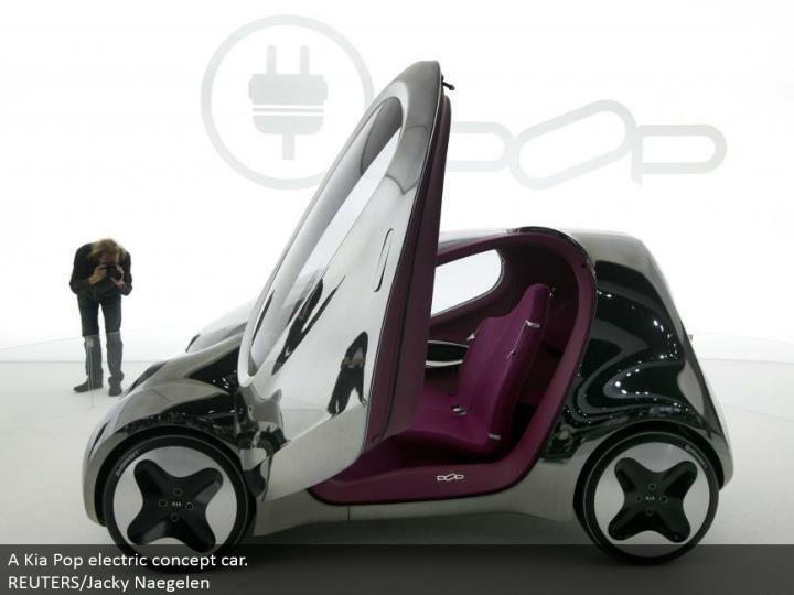 A Kia Pop electric idea auto. REUTERS/Jacky Naegelen