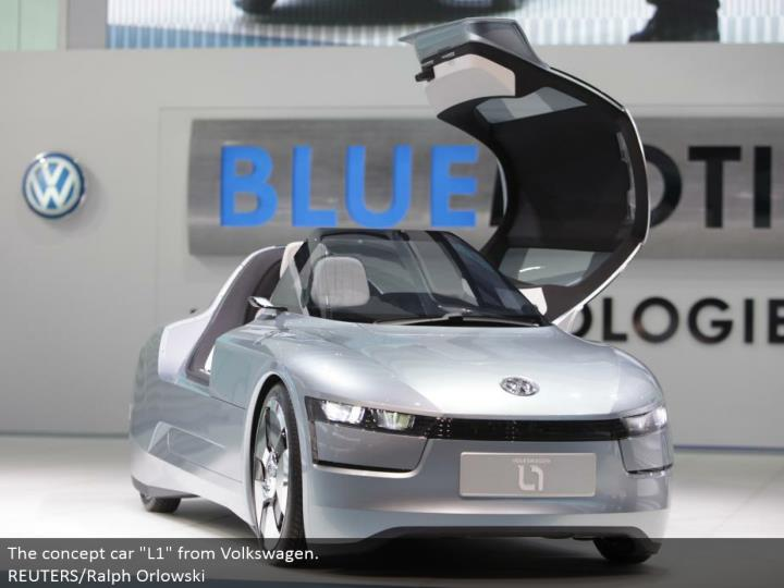 "The idea auto ""L1"" from Volkswagen. REUTERS/Ralph Orlowski"