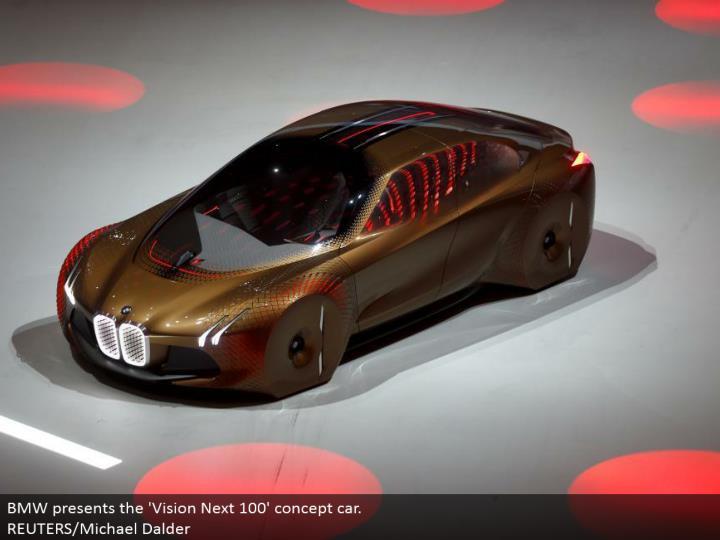 BMW presents the 'Vision Next 100' idea auto. REUTERS/Michael Dalder