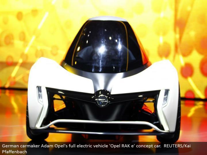German carmaker Adam Opel's full electric vehicle 'Opel RAK e' idea auto. REUTERS/Kai Pfaffenbach