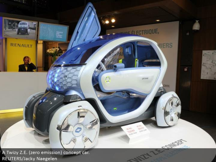 A Twizy Z.E. (zero emanation) idea auto. REUTERS/Jacky Naegelen