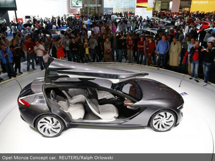 Opel Monza Concept auto. REUTERS/Ralph Orlowski