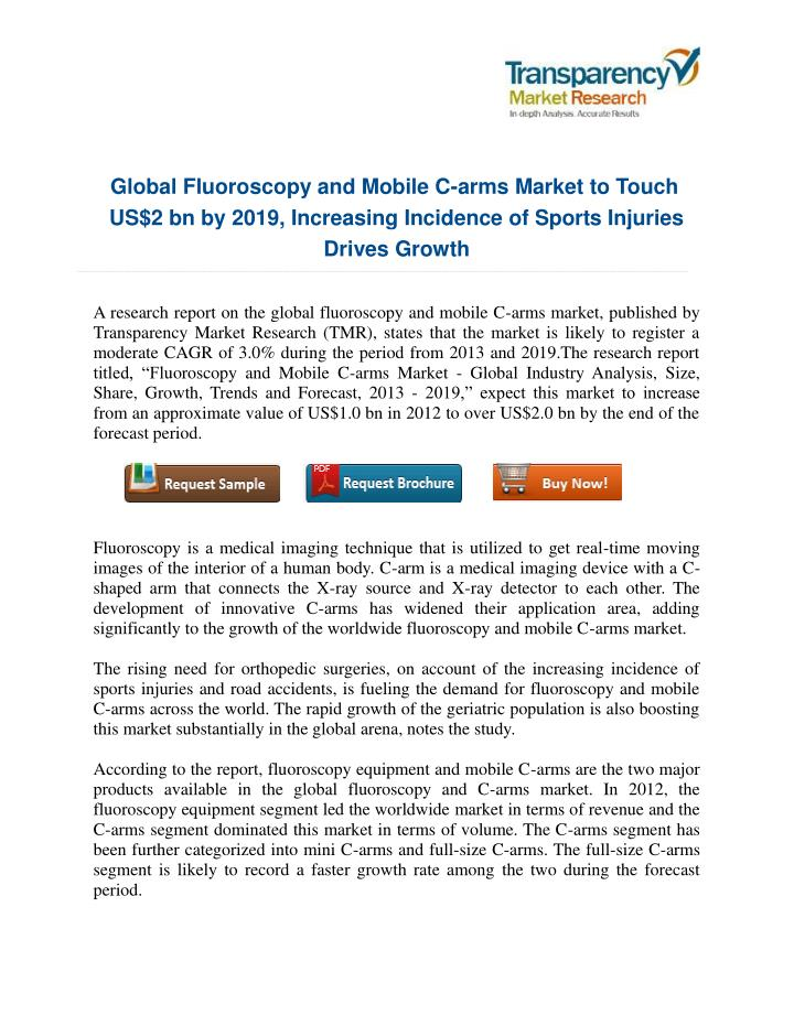 Global Fluoroscopy and Mobile C-arms Market to Touch