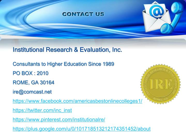 Institutional Research & Evaluation, Inc.