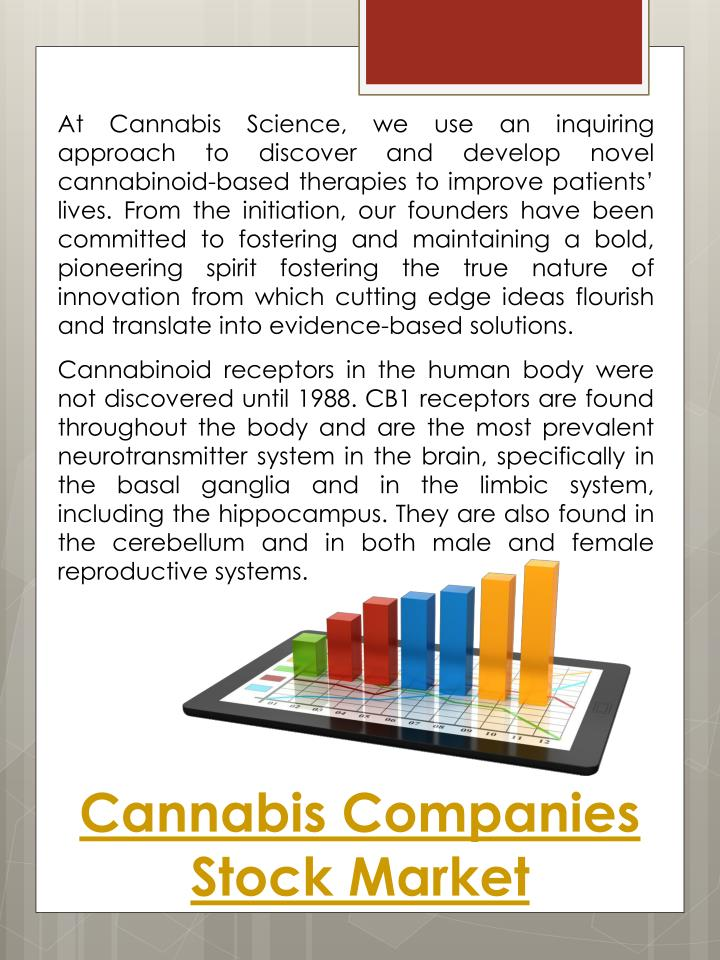 Cannabis Companies Stock Market PowerPoint
