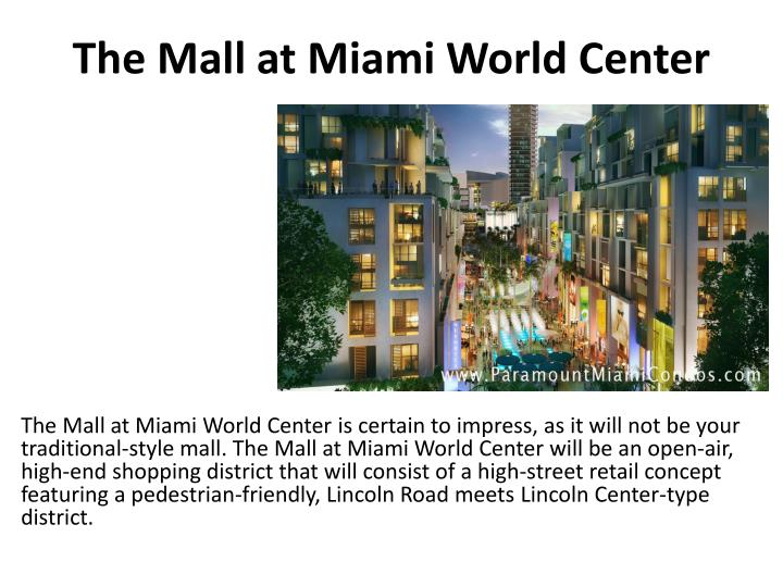 The mall at miami world center