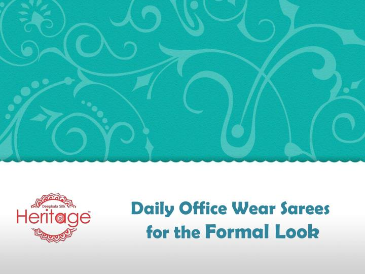 Daily Office Wear Sarees