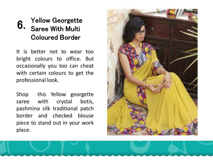 Yellow Georgette