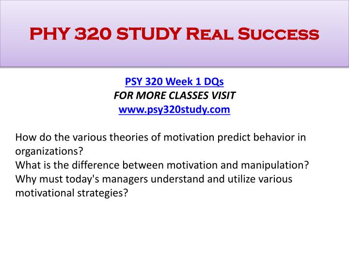 psy 320 week 1 paper motivation concepts table Click the button below to add the psy 320 week 1 individual motivation concepts table and analysis paper to your wish list.