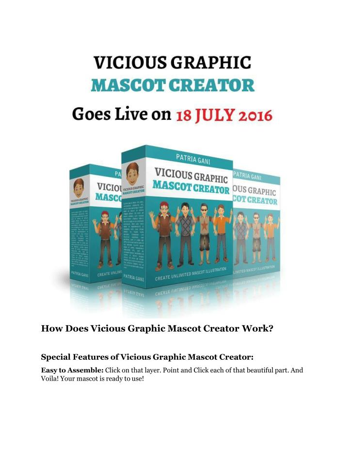 How Does Vicious Graphic Mascot Creator