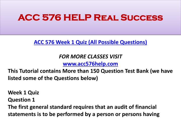 Acc 576 help real success1