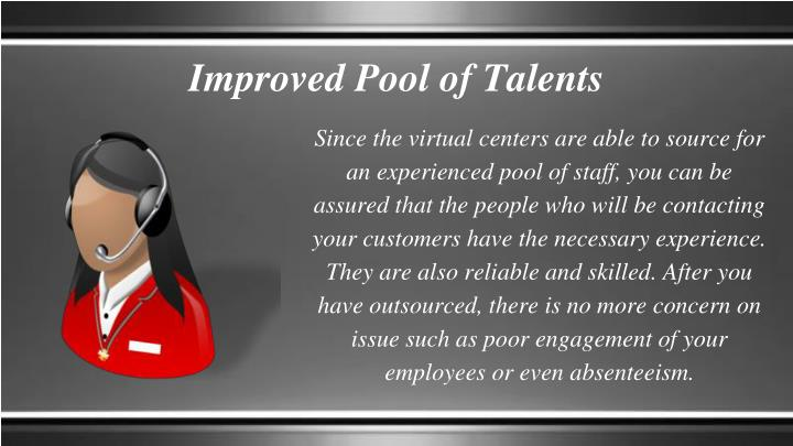 Improved Pool of Talents