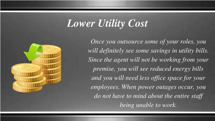 Lower Utility Cost