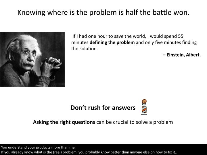 Knowing where is the problem is half the battle won.
