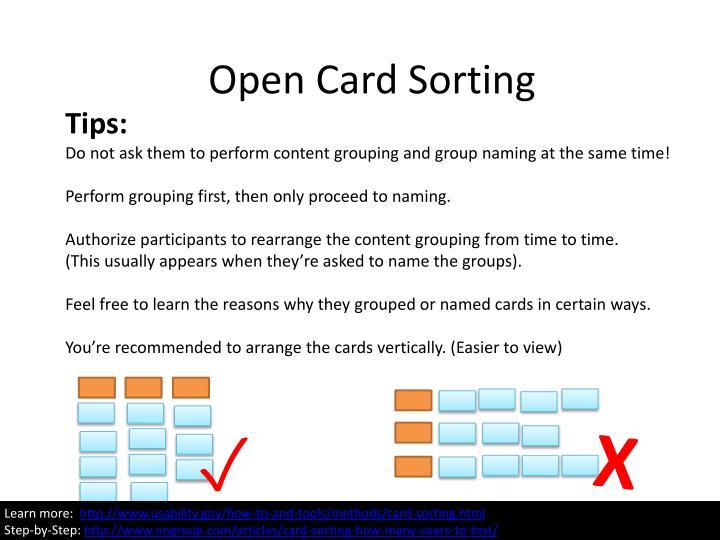 Open Card Sorting
