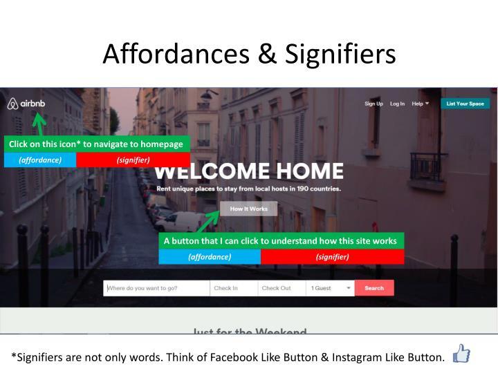 Affordances & Signifiers