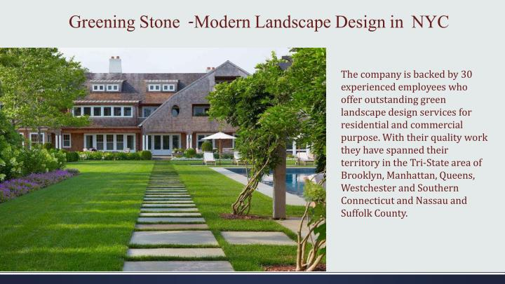 Greening stone modern landscape design in nyc