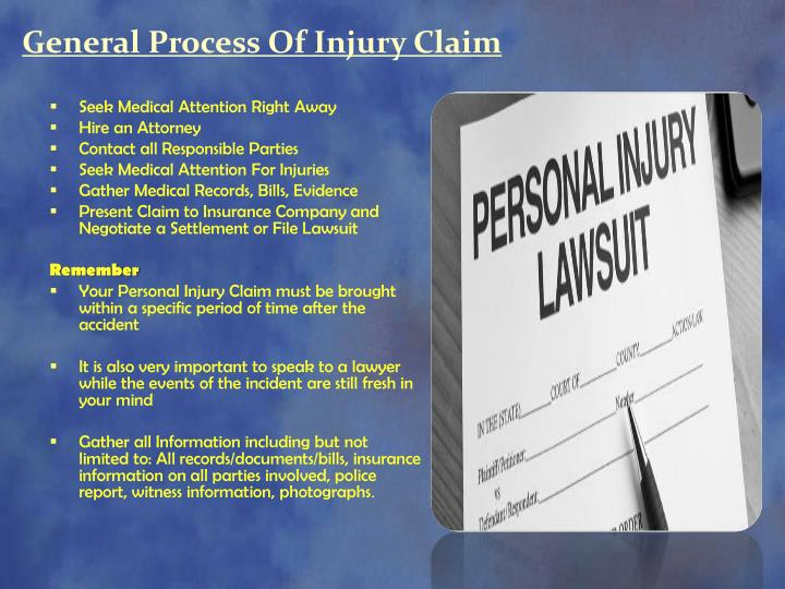 General Process Of Injury Claim