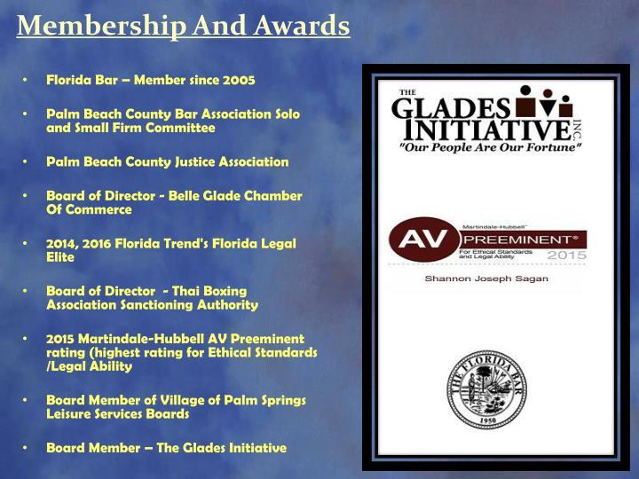 Membership And Awards