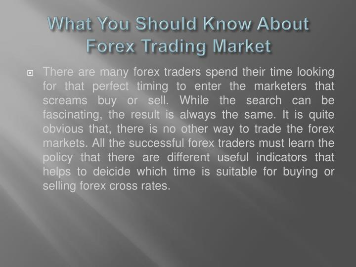 What You Should Know About Forex Trading Market