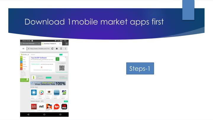 Download 1mobile market apps first