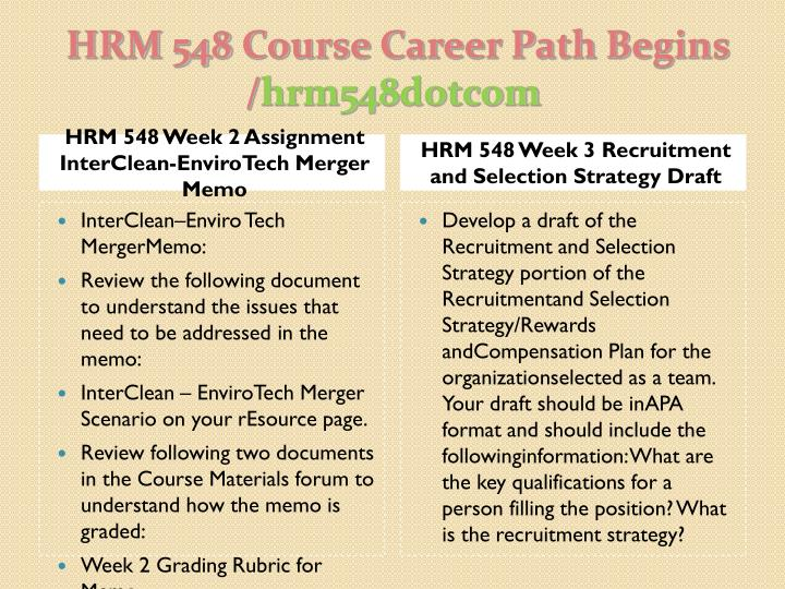 Hrm 548 course career path begins hrm548 dotcom2